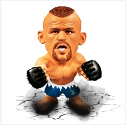 "Chuck ""The Iceman"" Liddell UFC Titans Series 1 Limited Edition w/ Blue Trunks"