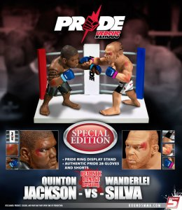 "Quinton ""Rampage"" Silva Vs Wanderlei ""The Axe Murderer"" Silva Pride 28 UFC Versus Series 1 Special Edition w/ Realistic Damage Detailing"