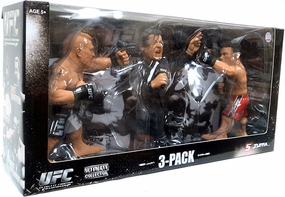 Brock Lesnar Vs Frank Mir with Bruce Buffer Ultimate Collector Series UFC Fan Expo 2010 Boston Versus Series 3-Pack