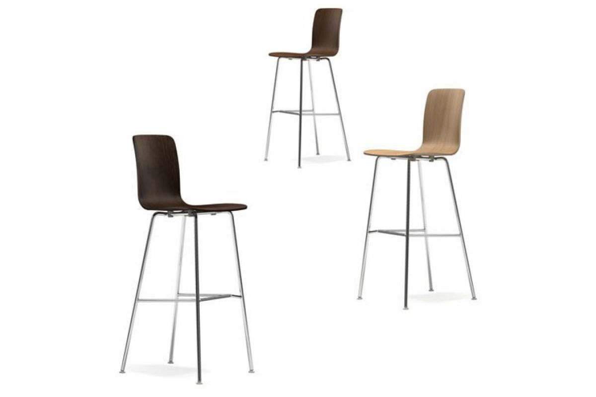 Vitra HAL Ply Stool High Round Office Mobilier De