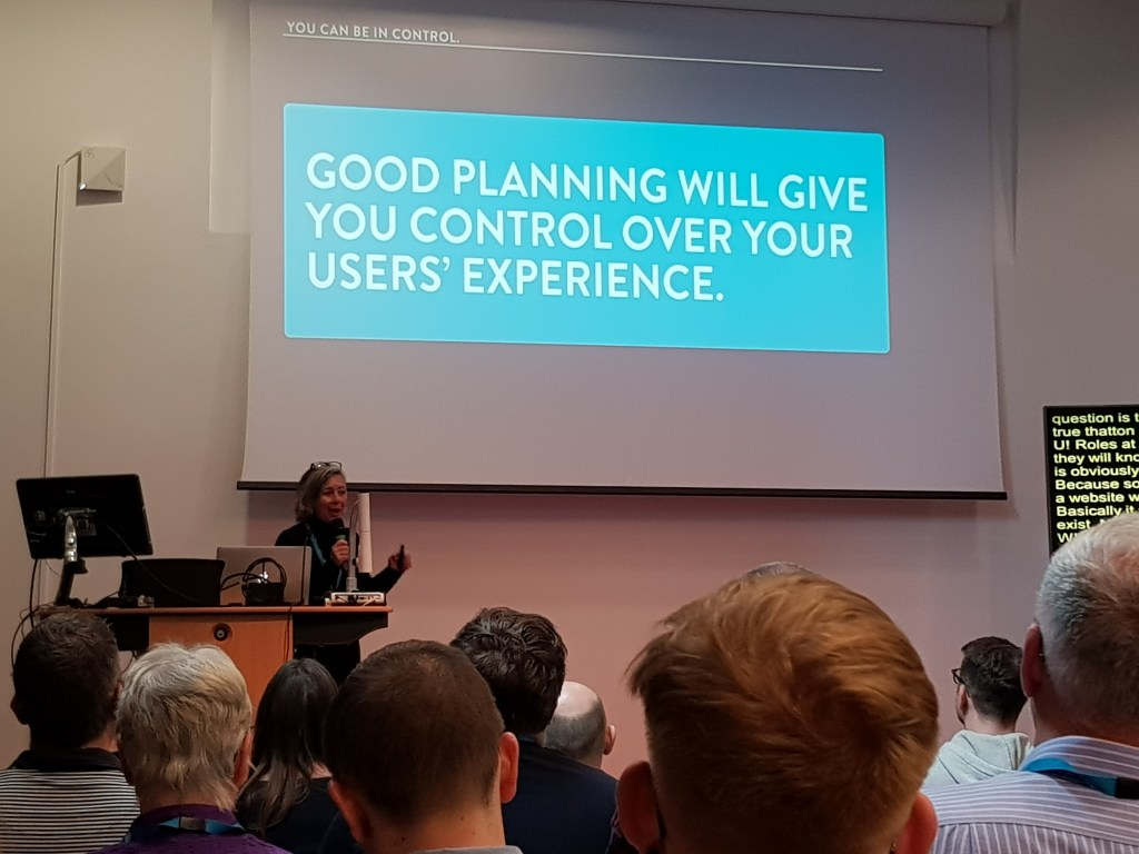 Good planning will give you control over your users' experience