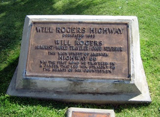 Will Rogers Highway monument