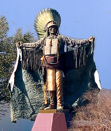 Large Indian statue moved to Edmond