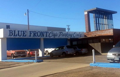 Blue Front Cafe, Amarillo, by Jack Malone (FB)