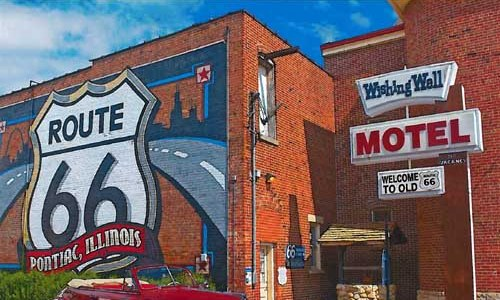 Pontiac shield featured on cover of National Geographic Route 66 calendar