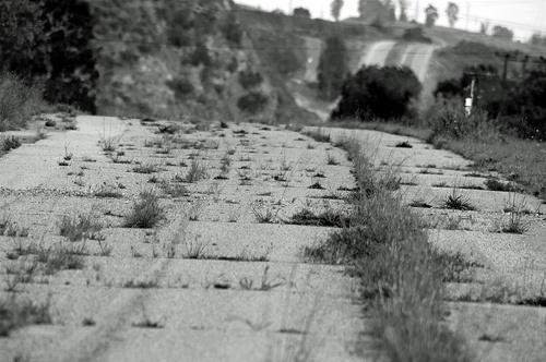 Cajon Pass, abandoned section