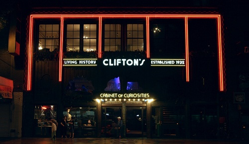 Clifton's Cafeteria in Los Angeles closes its cafeteria