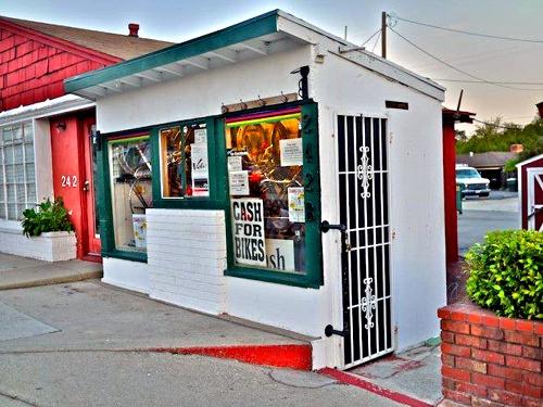 Route 66 boasts the World's Smallest Bike Shop