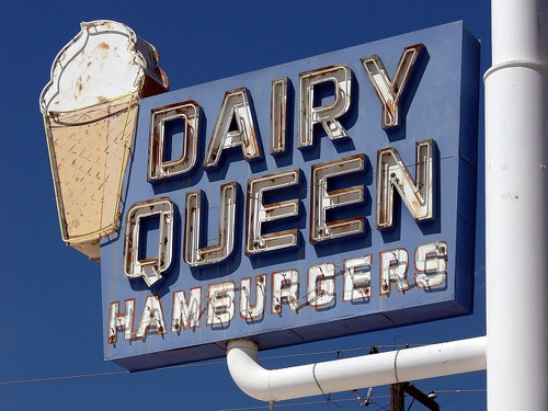 Old Dairy Queen sign in Holbrook endangered
