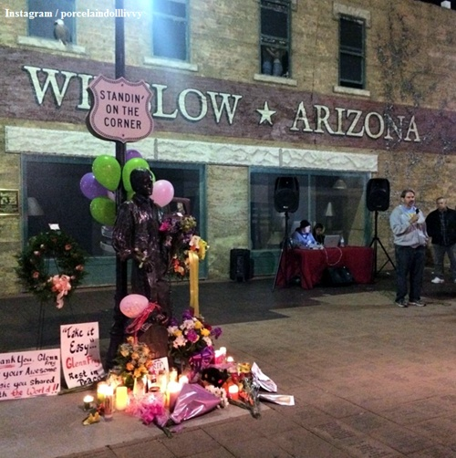 Winslow's tourism season began early with Glenn Frey's death