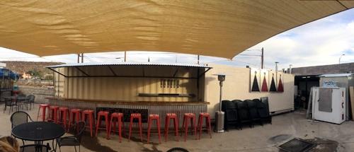 Black_Bridge_Brewery_patio, shipping container, Kingman, AZ