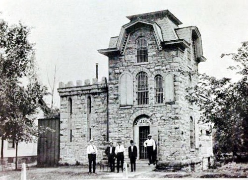 Macoupin County Cannonball Jail, old photo