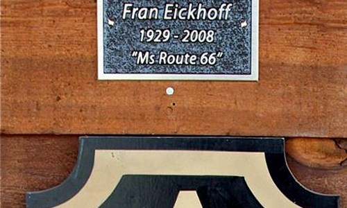 Fran Eickhoff plaque being moved to Missouri Hick Bar-B-Q
