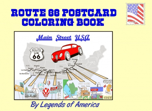 "Book review: ""Route 66 Postcard Coloring Book"""