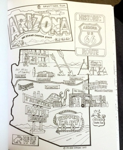 Route 66 Splendor excerpt of Arizona collage