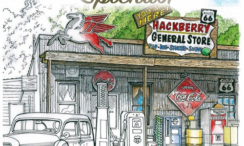 "Book review: ""Route 66 Splendor: An Adult Coloring Book"""