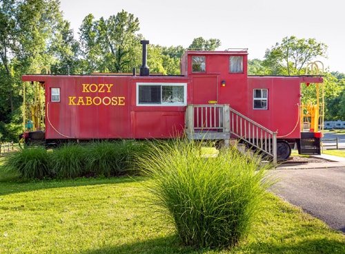 Sleep overnight in a caboose on Route 66