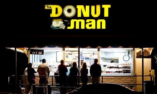 Inside The Donut Man shop in Glendora