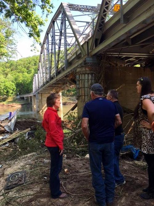 Congresswoman tours flood-stricken Devil's Elbow