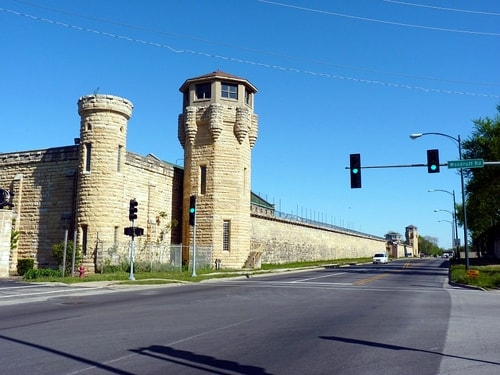 """The historic but long-abandoned Joliet Correctional Center in Joliet,  Illinois, best known for the opening scene of """"The Blues Brothers"""" movie,  ..."""