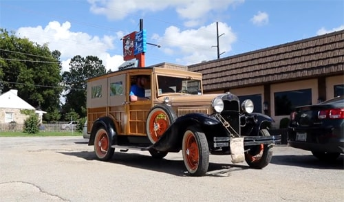 Author traveling Route 66 in 1930 Ford Model A for book project