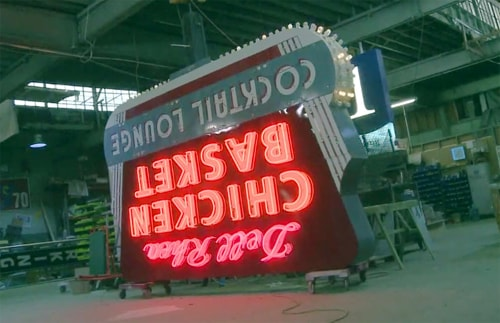 The man behind many Route 66 neon sign restorations
