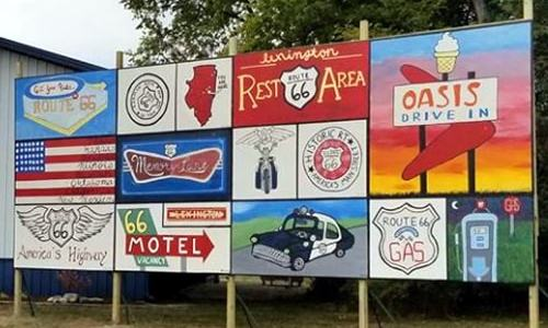 New Route 66 mural goes up in Lexington
