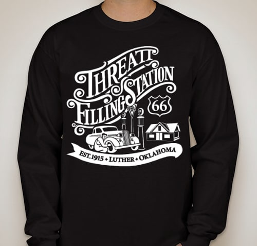T-shirt sales aim to restore Threatt Filling Station near Luther