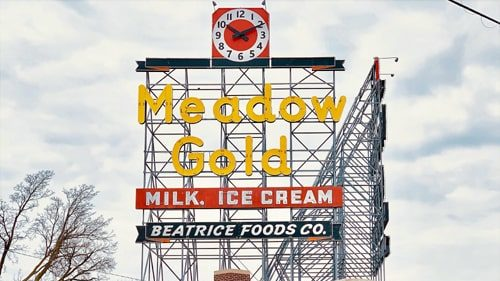Video uploaded about the history and restoration of Meadow Gold sign in Tulsa