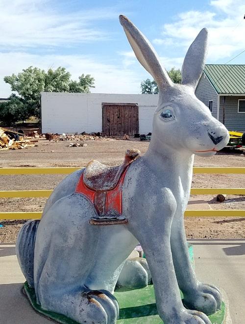 Jackrabbit at Jack Rabbit Trading Post being restored