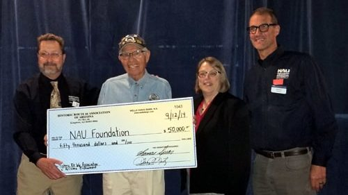 Arizona Route 66 Association gives $50,000 to NAU to preserve documents