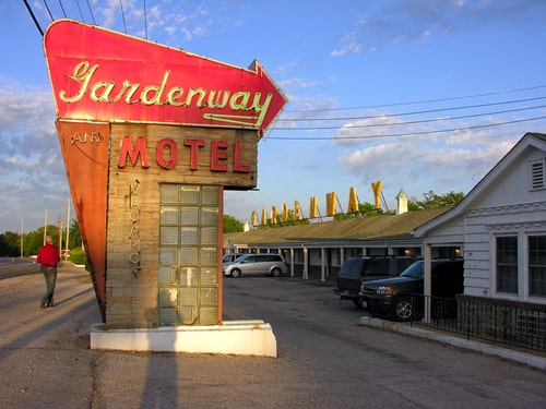 Neon sign at Gardenway Motel in Villa Ridge taken down for safekeeping