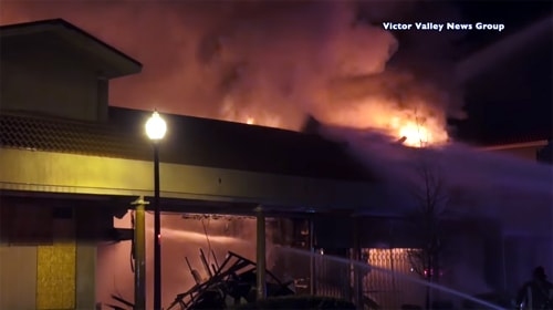 Fire in Old Town Victorville destroys historic strip mall