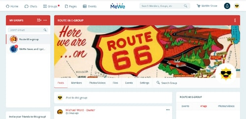 Route 66 e-group advocates moving to MeWe platform