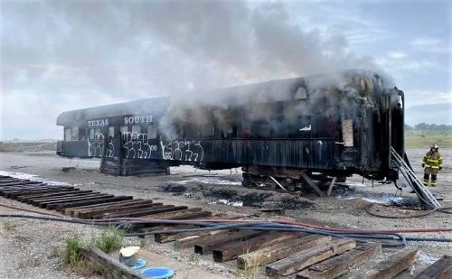 Fire destroys 120-year-old railcar slated for restoration in Galena