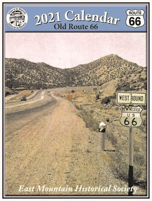 Historical society selling 2021 calendar of old Route 66 images east of Albuquerque