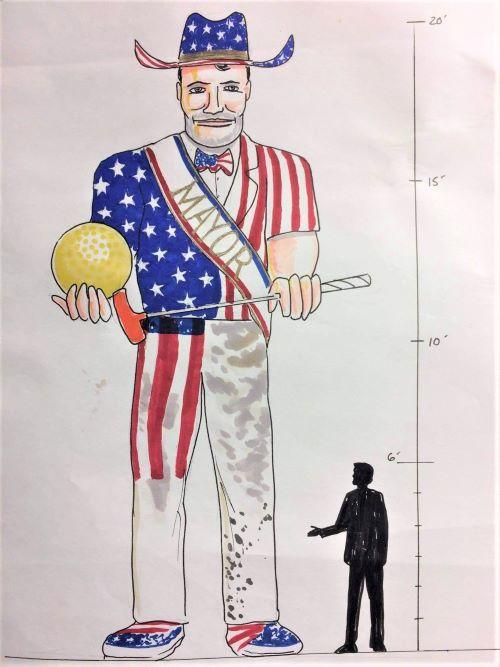 Muffler Man statue planned at Uranus Missouri complex
