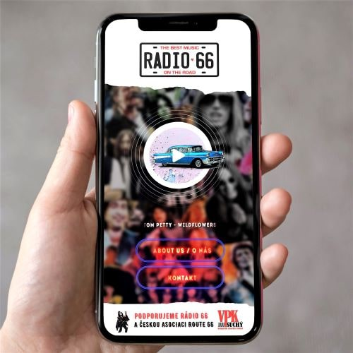 Czech Route 66 Association creates app for its online Radio 66 station