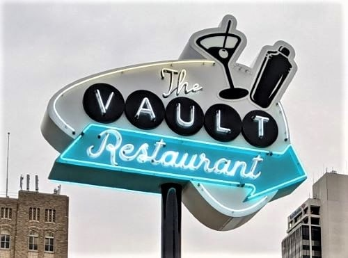 20th sign installed as part of Tulsa's Route 66 Neon Sign Grant Program