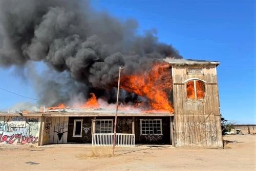 Fire destroys long-closed Goffs General Store
