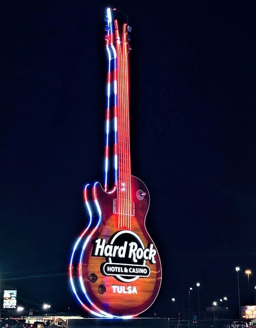 65-foot guitar unveiled at Hard Rock Hotel & Casino in Catoosa