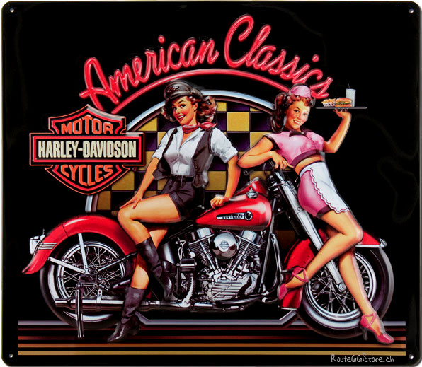 Route 66 Store Harley Davidson American Classic Pin Up