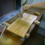 木銘板 浸透剤塗装