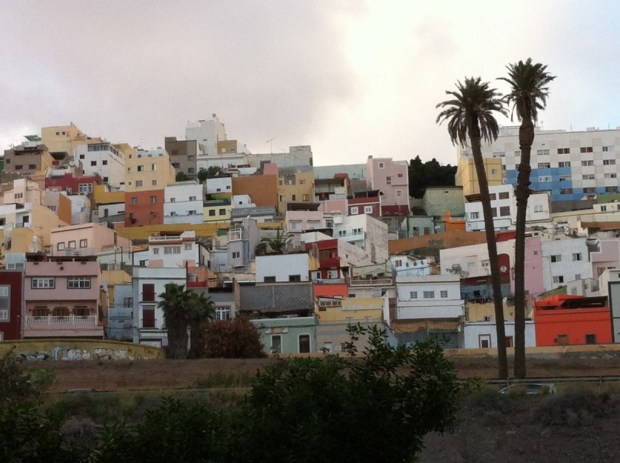 The densely packed Las Palmas old town