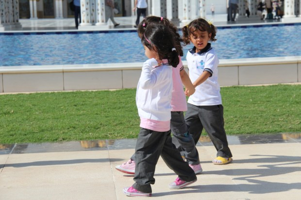 Children in the Sheikh Zayed Grand Mosque, Abu Dhabi