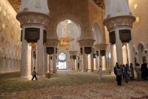 A view of the Sheikh Zayed Grand Mosque