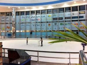 The ice rink in Marina Mall, Abu Dhabi
