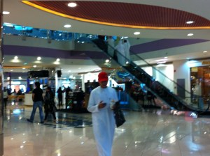 Walking in the Marina Mall, Abu Dhabi