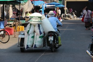 A heavy load at Ban Phe, Thailand