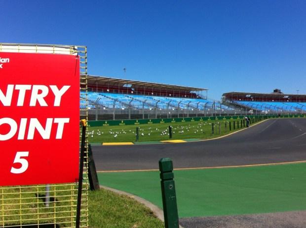 Albert Park preparing preparing for the Formula 1 race